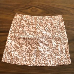 J. Crew mini skirt with pockets and zipper